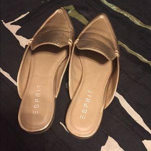 4d72eb34dbf3b5 Esprit Shoes - Esprit Mia Rose Gold Mules